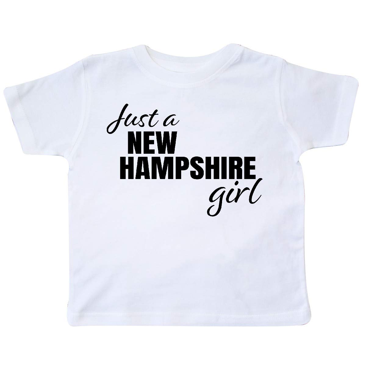 inktastic Just a New Hampshire Girl Born and Raised Toddler T-Shirt