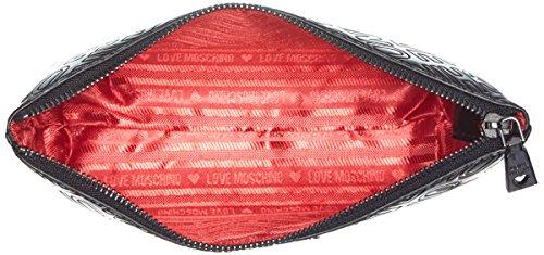 Love Moschino Bustina Embossed Patent Pu Nero - Pochette da giorno Donna, Schwarz (Black), 14x24x7 cm (B x H T)