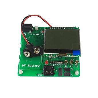 Hemobllo Transistor Tester Inductor Capacitor esr Meter Multi