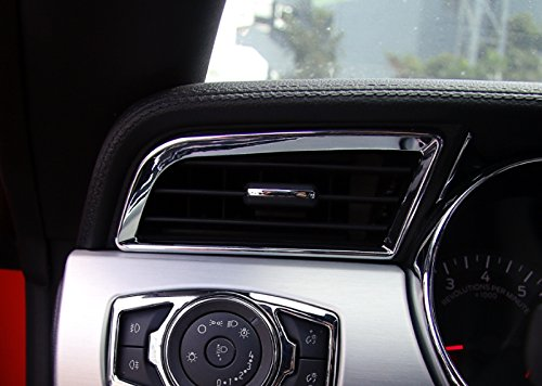 ABS Chrom gl/änzend Vorderseite Klimaanlage Vent Cover Trim 2 F/ür Mustang 2015 2016 2017
