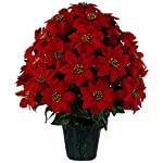 Sympathy-Silks-Christmas-Memorial-Artificial-Red-Poinsettia-Weighted-Pot-Bouquet-Decoration-Height-24-26-Artificial-Greenery-Fade-Resistant