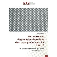 Mécanisme de dégradation thermique d'un copolymère dans les SBA-15: Cas sous atmosphère oxydante et sous atmosphère inerte