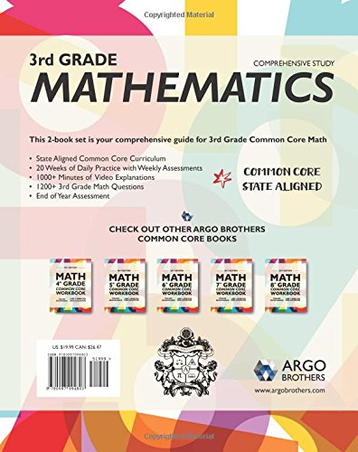 Argo Brothers Math Workbook, Grade 3: Common Core Multiple Choice ...