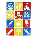 Prettyia 図面テンプレート ステンシルルーラー 12個 かわいい 芸術 魅力 子供DIY工芸品おもちゃに適用