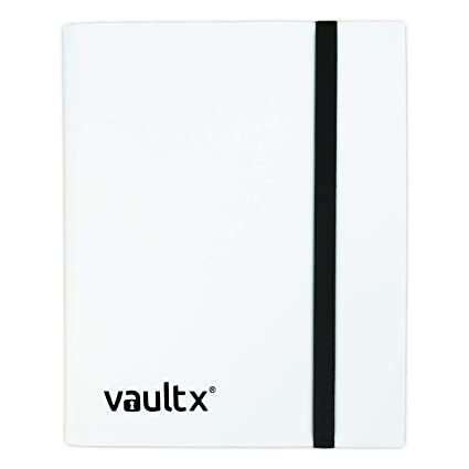 Vault X® Carpeta - Álbum de 9 Bolsillos para Cartas Coleccionables - 360 Bolsillos de Inserción Lateral para TCG (Blanco)