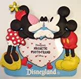 Disneyland Mickey & Minnie Mouse Kissing Magnetic Photo Frame - Valentine Love - Disney Parks Exclusive