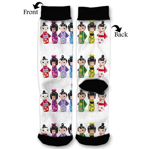 Fashion Travel Breathable Socks Japanese KOKESHI DOLL ART Men & Women Running Casual Socks