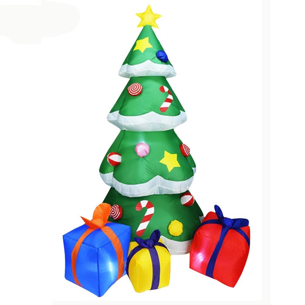 arbre de No/ël color/é d/écorations de d/écorations de jardin gonflables dext/érieur Arbre de No/ël gonflable de 7 pieds arbre gonflable de No/ël arbre de No/ël souffl/é par air