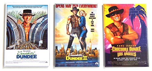 - Crocodile Dundee Movie Poster Fridge Magnet Set (2.5 x 3.5 inches each)