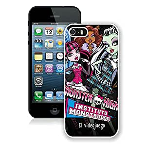Beautiful Designed Cover Case For iPhone 5S With Monster High White Phone Case