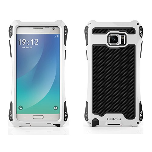 Shockproof Armor Case for Samsung Galaxy Note 5 (White) - 6