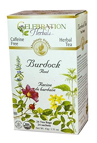 (Celebration Herbals Teabags Herbal Tea Burdock Root Organic - 24 Herbal Tea Bags)