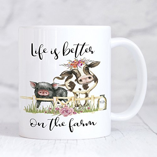 Life is Better on the Farm Inspirational Coffee Mug Gift for Farmer 11oz