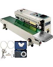 VEVOR Continue Horizontale Verzegelingsmachine FR900K Automatisch Zegelmachine Instelbaar Temperatuur 0-400 °C Sluitmachine Continuous Band Zak Sealer Voor Plastic Zakken Verzegelen Afdrukken Tellen
