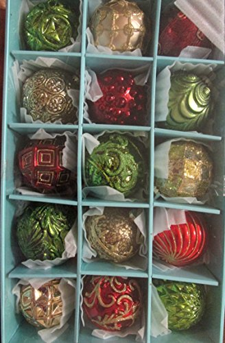 Martha Stewart Christmas Glass Ornaments