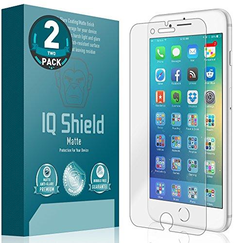 iPhone 8 Plus Screen Protector (Max Edge-To-Edge Coverage)(2-Pack), IQ Shield Matte Full Coverage Anti-Glare Screen Protector for iPhone 8 Plus Bubble-Free Film