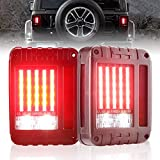 Liteway Jeep Wrangler LED Tail Lights Brake Reverse Turn Signal Light for 2007-2016 Jeep Wrangler JK Back Up Running Lights Rear Parking Stop Light 2 Pack