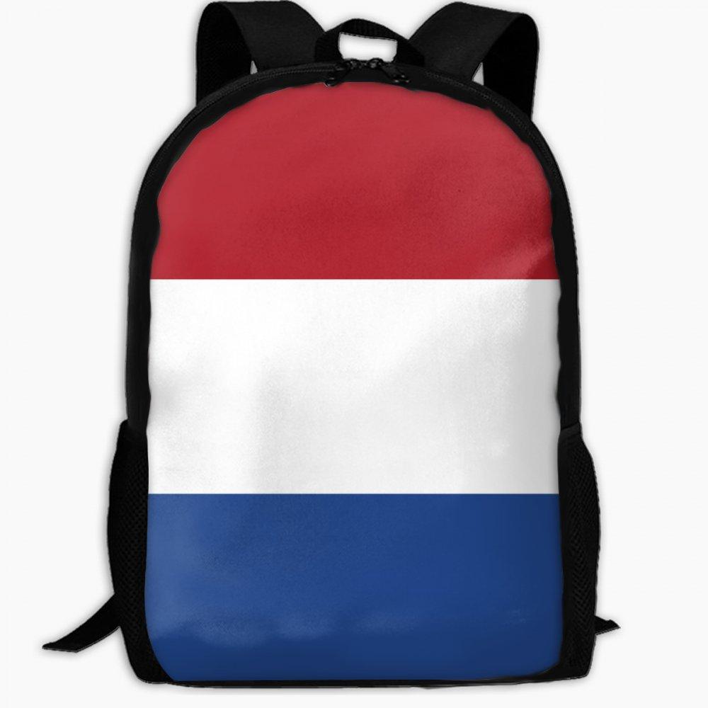 Chunlei子スクールバッグオランダの国旗アウトドア旅行バックパック学生バックパックガールズBookバッグユニセックスショルダーDaypack B07FVNVMF4