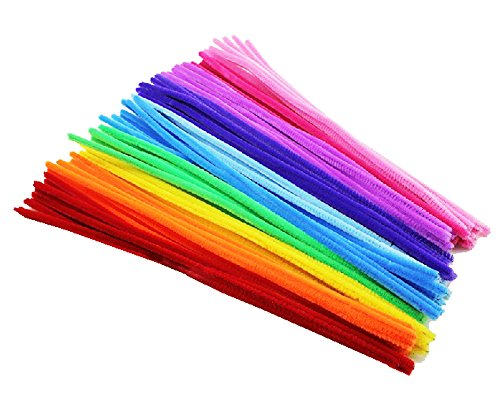 Rimobul Creative Arts Chenille Stem Class Pack,6 mm x 12 Inch, Rainbow Colors, Pack of 100 ()