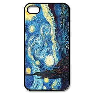RebeccaMEI Custom Your Own Personalised Vincent Van Gogh Starry Night Iphone 4 4S Best Durable Hard Cover Case