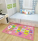 Best LEGO Camping Toys - Childrens Bedroom Rugs Fashion Pink Hopscotch Play Game Review