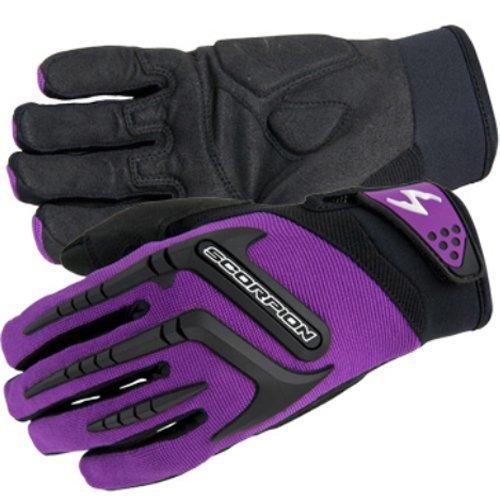 ScorpionExo Women's Skrub Gloves(Purple, Small), 1 Pack