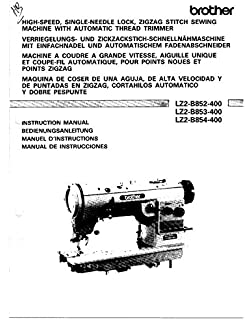 Brother LZ2-B853-400 Sewing Machine Owners Instruction Manual