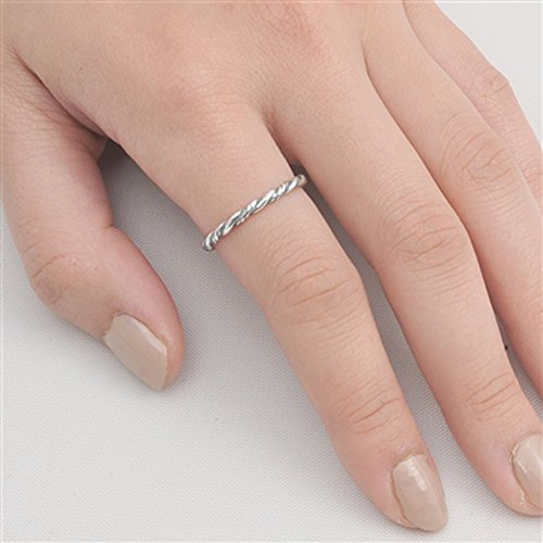 Rope Eternity Braid Bali Thumb Ring New .925 Sterling Silver Band Size 13 by Sac Silver (Image #1)