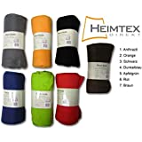 Heimtex Coperta in pile 130 x 170 cm 130 x 170 cm arancione