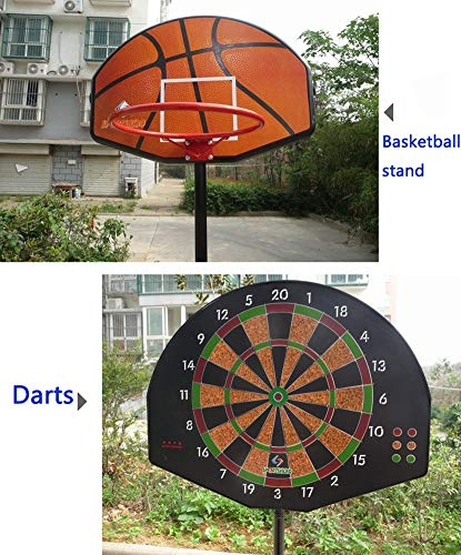 Portable Mini Basketball Hoop System Stand, Adjustable Toy Set for Toddler Kids, Indoor Outdoor Dual-use Backboard Net Goal by Basketball Stand (Image #4)