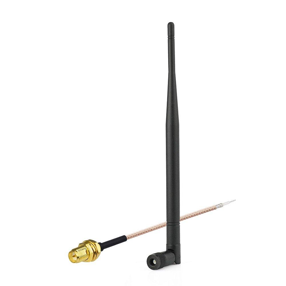 Eightwood RP-SMA Kabel PCI IPX//u.FL auf RP-SMA Buchse 1.13mm 8inch 20cm f/ür AVM PCB Wireless LAN WLAN Router Laptop WiFi Card MEHRWEG