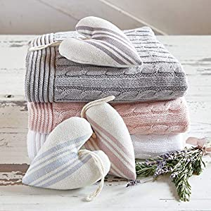 Stephan Baby Stephan Baby Heirloomed Collection Lavender-Filled Hanging Keepsake Pillow Available in 6 Designs, 6 x 5, Heart Grey Stripe