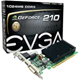 EVGA2 GeForce 210 Passive 1024 MB DDR3 PCI Express 2.0 DVI/HDMI/VGA Graphics Card 01G-P3-1313-KR