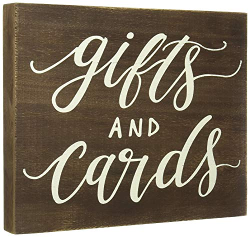 JennyGems Gift Table Sign, Real Wood Gifts and Cards - Rustic Distressed Wood Signs Weddings, Parties, Special Events. Made of Wood, Wedding Signs, Wedding Gift Box Sign, Party Gift and Card Sign