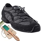 Men's Women's Practice Dance Sneaker Shoes Split Sole Black VFSN005EB Comfortable - Very Fine 13.5M US [Bundle of 5]