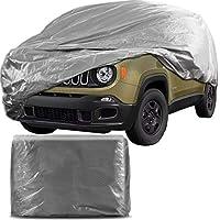 Capa Protetora para Cobrir Carro 100% Impermeável com Forro Central e Elástico Tamanho G Cinza Jeep Renegade