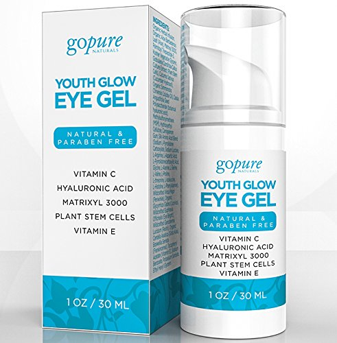 goPURE Natural Youth Glow Eye Gel, 1 oz.