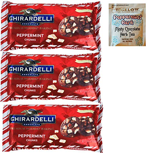 Ghirardelli Peppermint Baking Chips. Delicious Holiday Chips for Perfect Winter Mint Cookies and Bark.