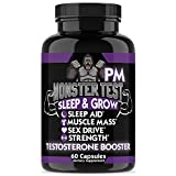 Angry Supplements Monster Test PM Testosterone Booster Plus Sleep Aid-Jack T-Levels All Natural, Made in USA, Powerful & Potent Ingredient, Boost Energy & Performance in the Gym and Bedroom (1-Bottle)