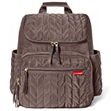Skip Hop Diaper Bag Backpack Forma, Multi-Function Baby Travel Bag with Changing Pad, Latte