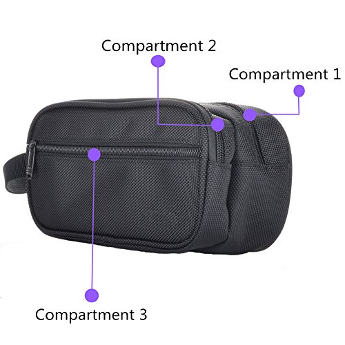 imoli Universal Travel Case for Electronics and Accessories, Carrying Bag for Chargers, Adapters, Power Cord, Power Bank and More (Black) by imoli (Image #1)