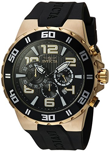 (Invicta Men's Pro Diver Stainless Steel Quartz Watch with Polyurethane Strap, Black, 0.95 (Model: 24671) )