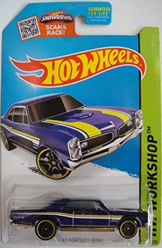 Hot Wheels, 2015 HW Workshop, '67 Pontiac GTO [Metallic Blue] Die-Cast Vehicle - Cars Muscle Gto