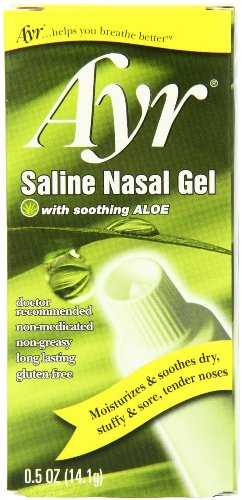 - Ayr Saline Nasal Gel with Soothing Aloe, 4 Count