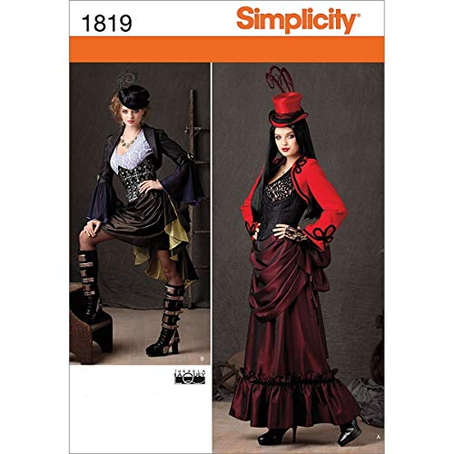 Simplicity 1819 Misses Steampunk Costume Sewing Pattern, Size R5 (14-16-18-20-22)]()