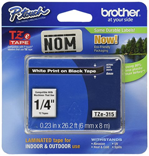 Brother 0.25x 26.25 Continuous Form Label   (TZe315)