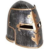 Jacobson Hat Company Men's Antiqued Pewter Knight Helmet, Silver, Adult