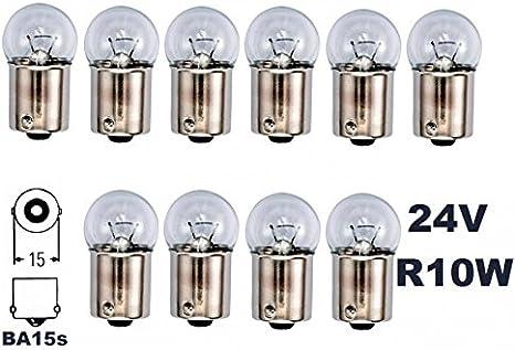24 Volt 10 Stück R 10w Ba15s 10watt Nfz Lkw Beleuchtung Glühlampe Glaslampe Glühbirne Soffitte Lampen Mit E Prüfzeichen Und Ist Für Den Straßenverkehr Zugelassen Inion Auto