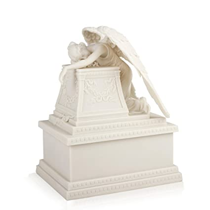 d6acdd841620c Amazon.com: Perfect Memorials White Weeping Angel Cremation Urn ...