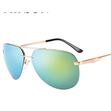 bb0b69585b1 Mens rimless sunglasses Polarized frog glasses Bright driving sunglasses-D